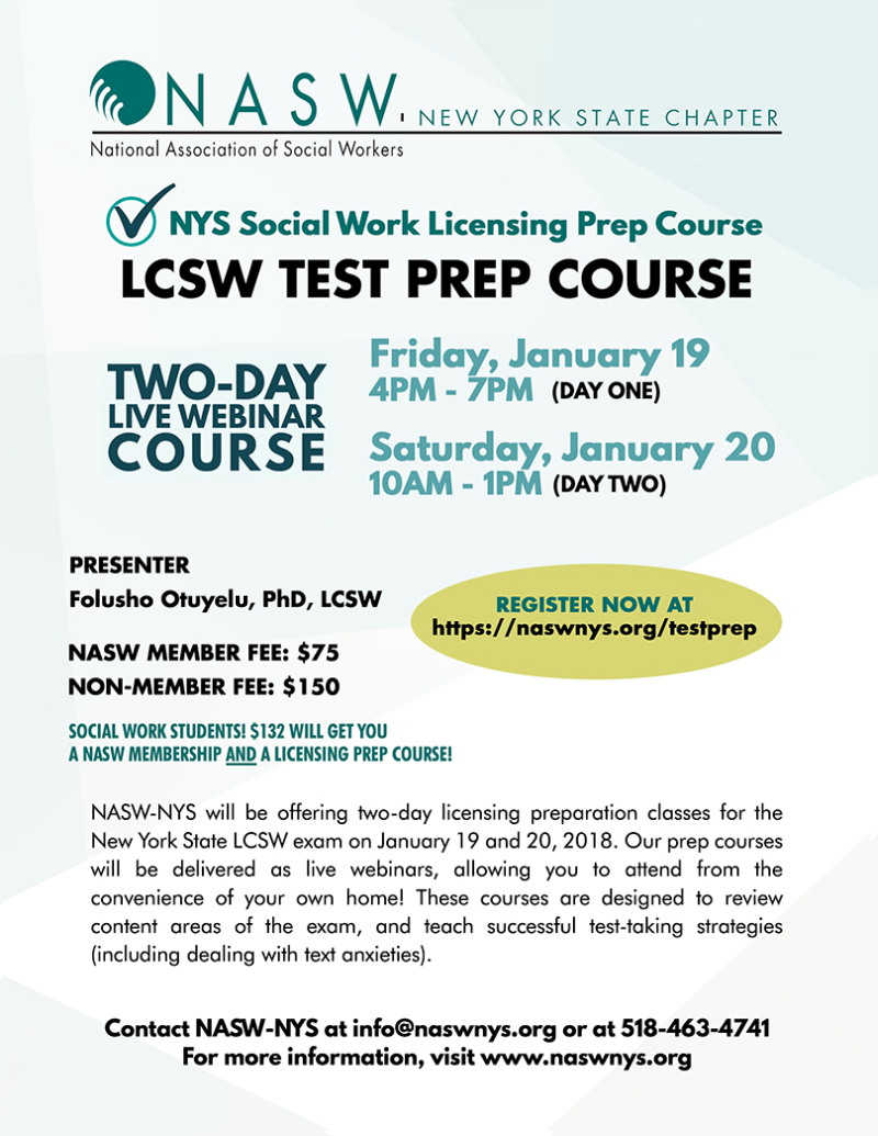 Lmsw lcsw test prep courses january 2018 nasw nys lets help you pass your exam feel free to share with any of your colleagues or friends who may be int erested 1betcityfo Image collections