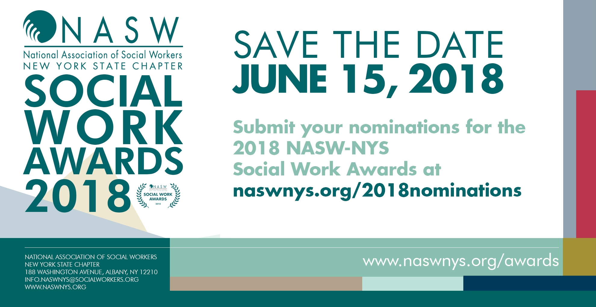 Submit nominations for the 2018 NASW-NYS Social Work Awards! - NASW-NYS