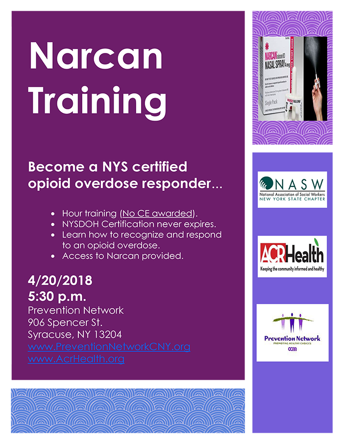 central division  narcan training