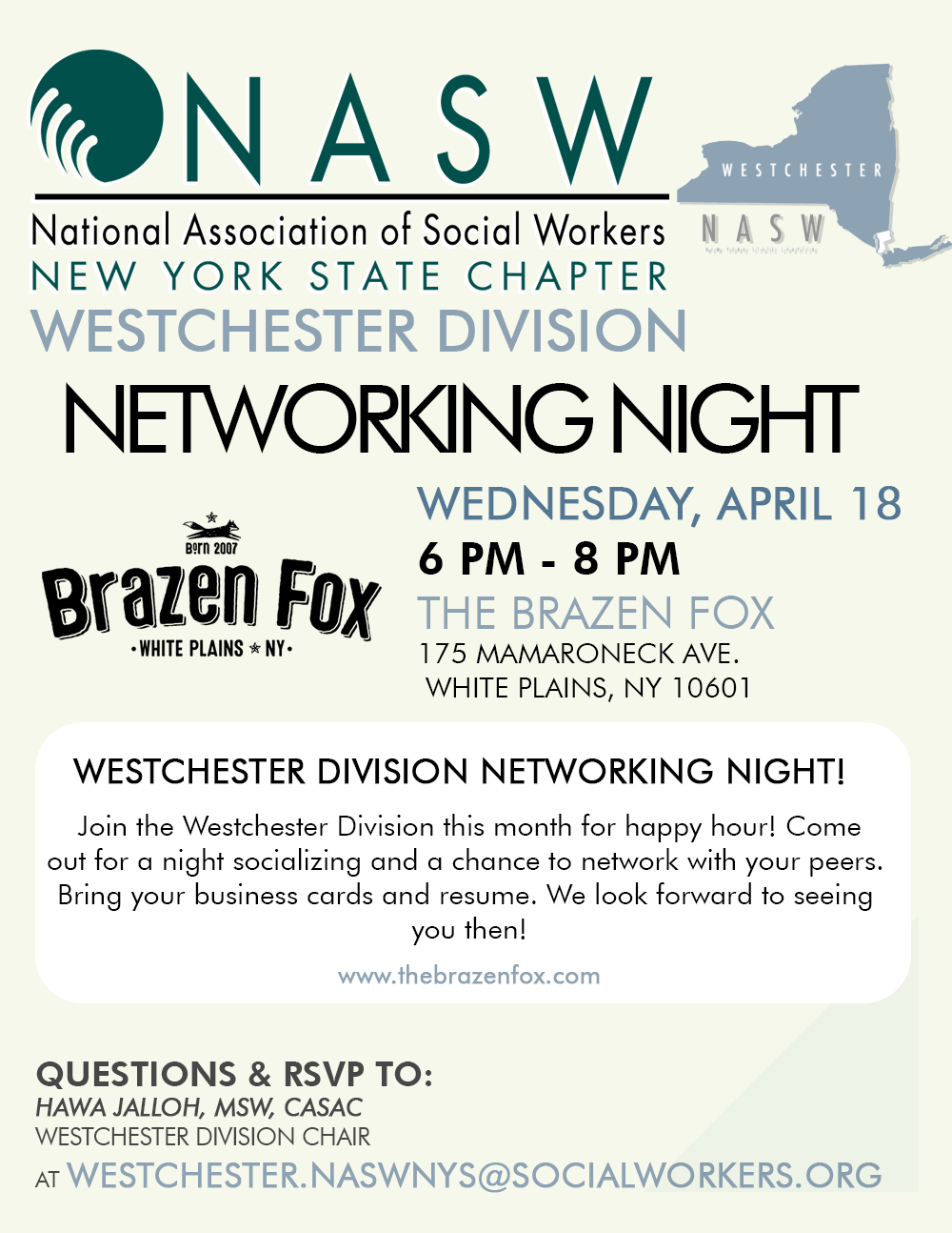 Westchester April Networking Night - NASW-NYS