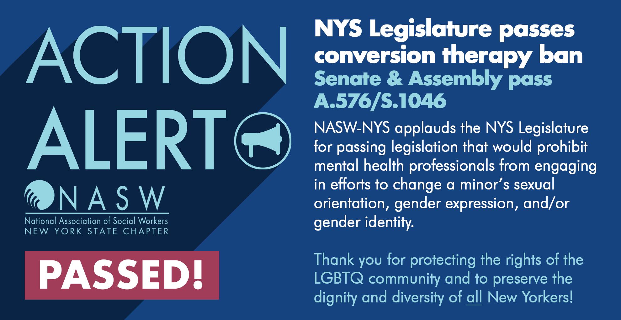 Legislative Victory Nys Legislature Passes Ban On Conversion